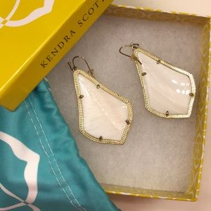 Mother of pearl and gold KS Alexandra Earrings